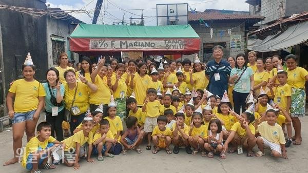 가난하 아이들에게도 꿈이 필요하다고 말하고 이들을 위한 지원을 아끼지 않는 서영남 대표.